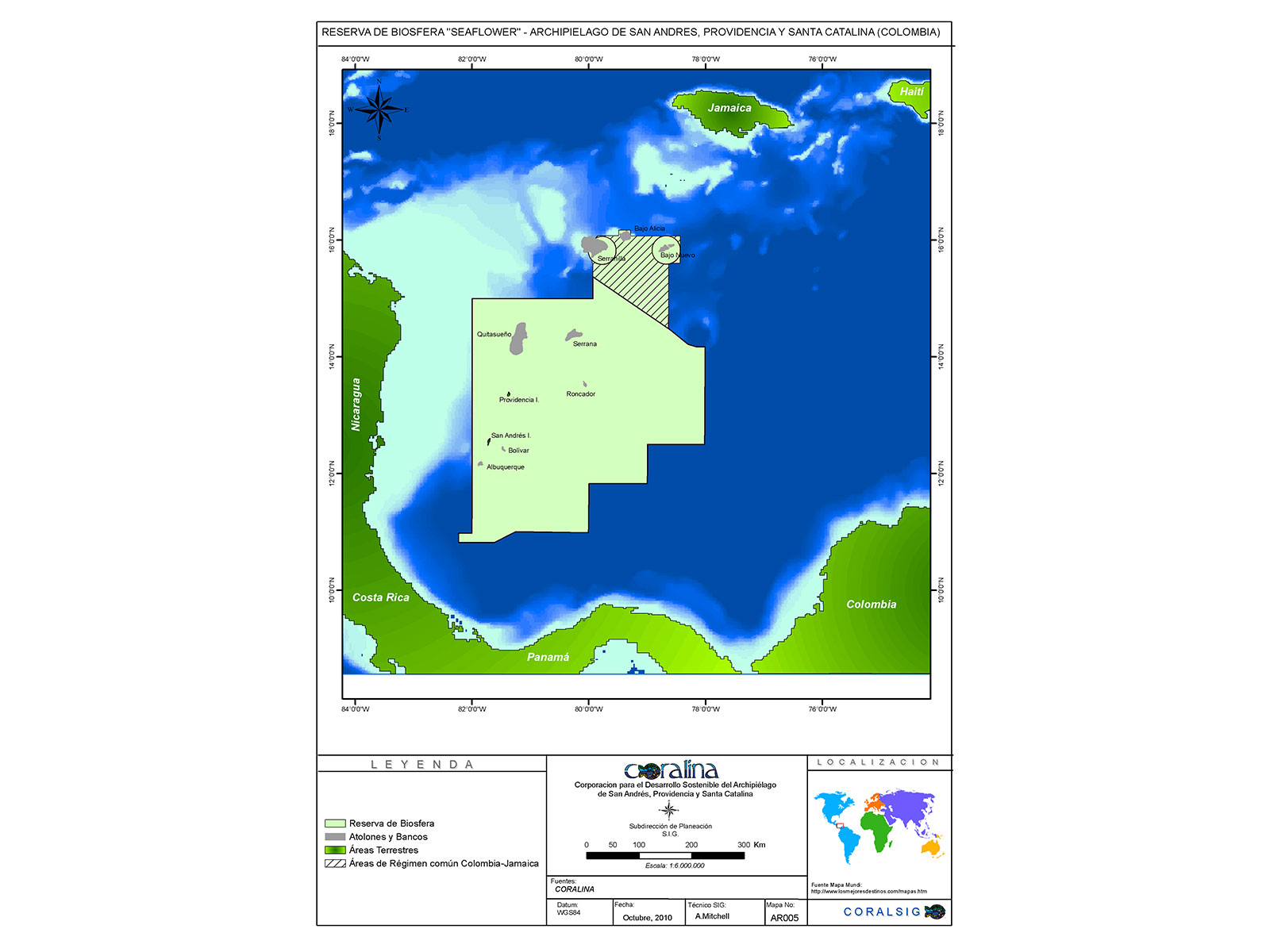 Mapa Seaflower